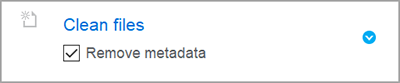 Remove metadata from word and pdf files - Workshare