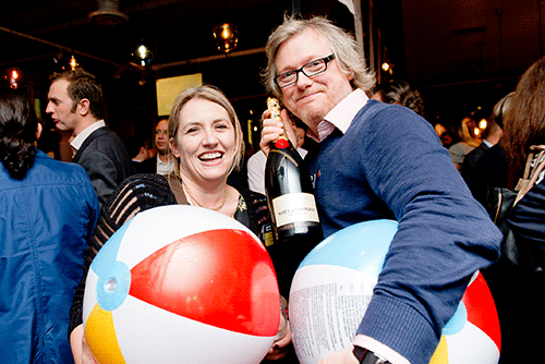 Winner Jo Campbell at the November 2014 London networking event