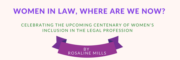 Women in law – where are we now?