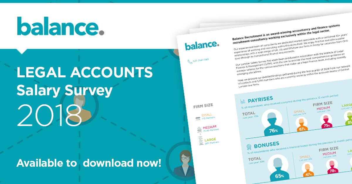 Balance Recruitment legal accounts salary survey 2018